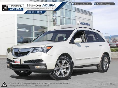 Used Acura MDX ELITE - ONE OWNER - LOW KMS - NEW TIRES - NAVIGATION SYSTEM - BACKUP CAMERA - SUNROOF - FOG LIGHTS