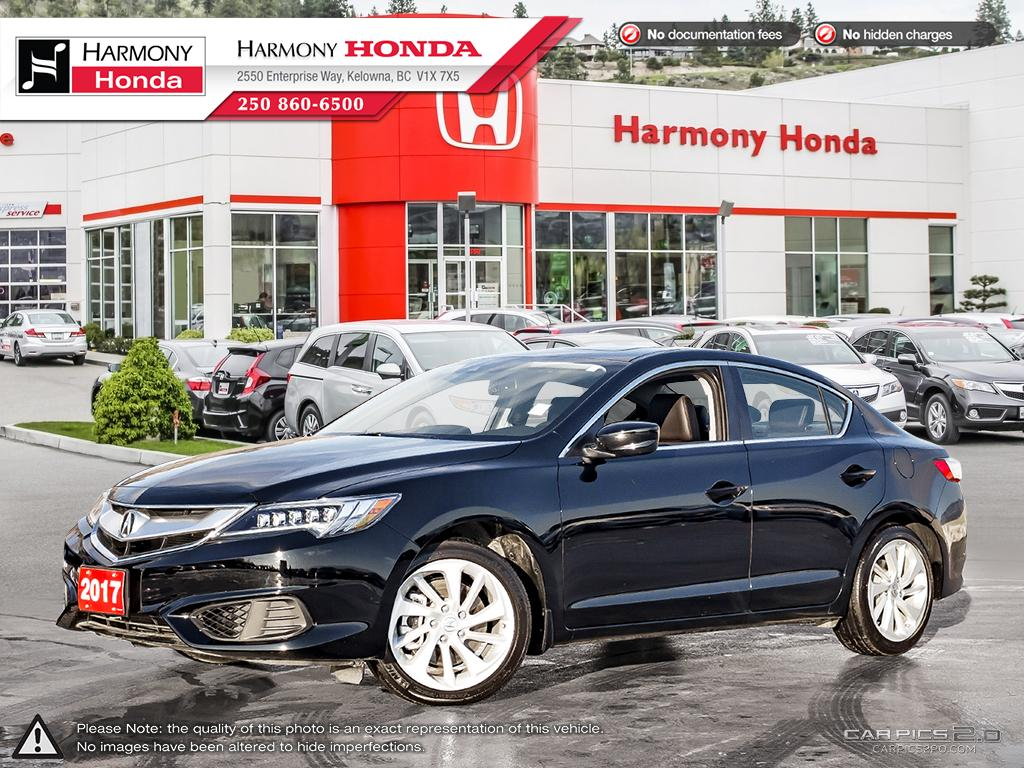 Pre-Owned 2017 Acura ILX PREMIUM - BC VEHICLE - NO ACCIDENTS / DAMAGE - LOW KM - BACKUP CAMERA - SUNROOF - FACTORY WARRANTY