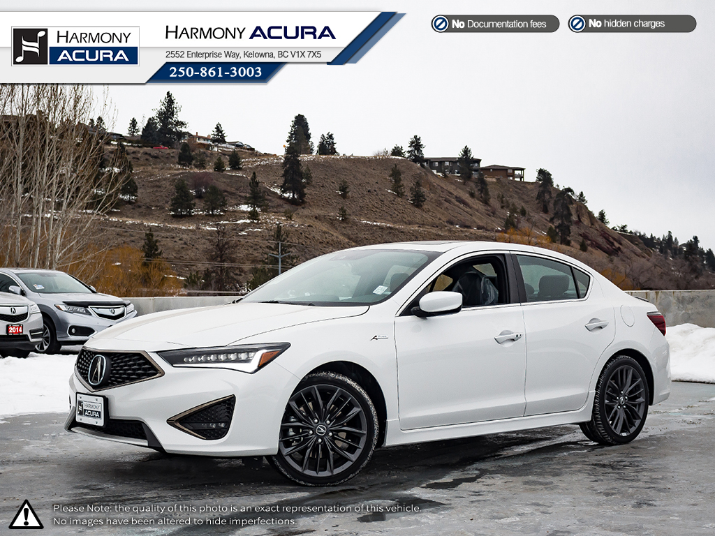 New 2019 Acura ILX TECH A-SPEC 4 Door Car In Kelowna