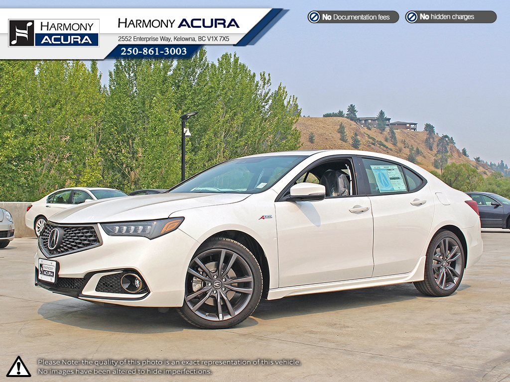 New 2019 Acura Tlx Tech A Spec 4 Door Car In Kelowna A19036
