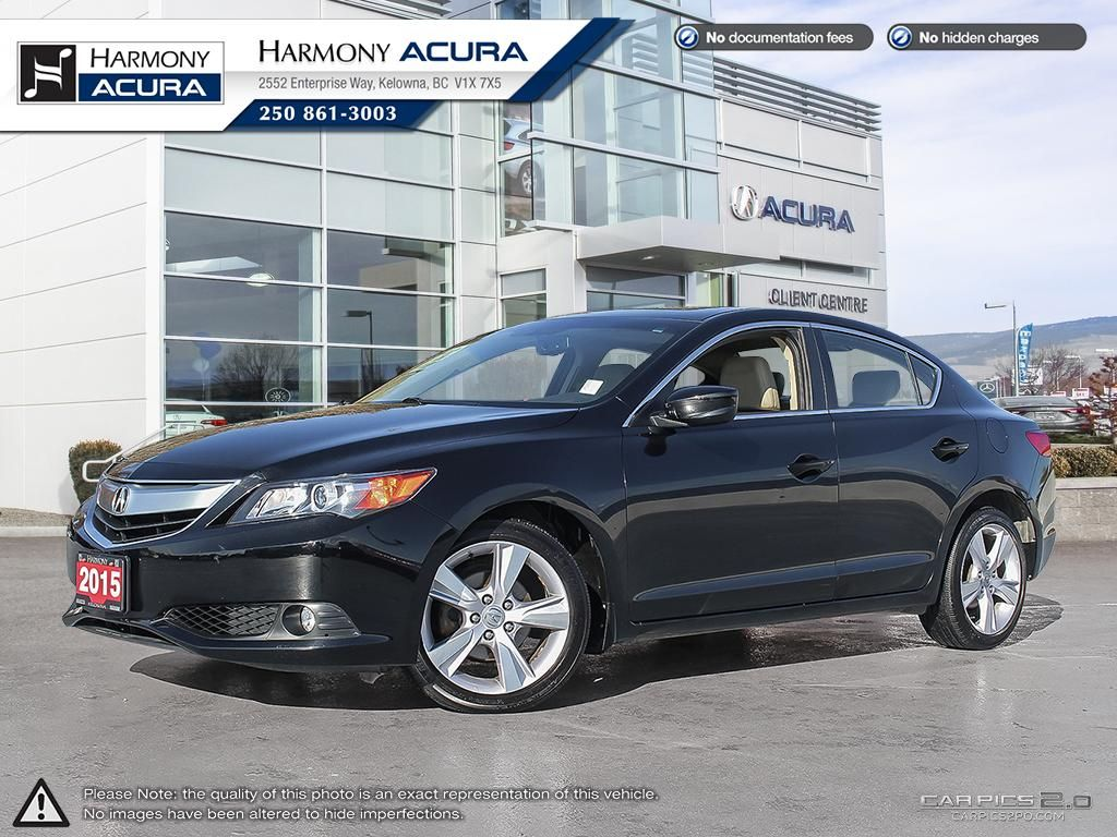 Pre-Owned 2015 Acura ILX PREMIUM PKG - NO ACCIDENTS / DAMAGE - NON SMOKER - LOW KM - BACKUP CAM - SUNROOF - FACTORY WARRANTY
