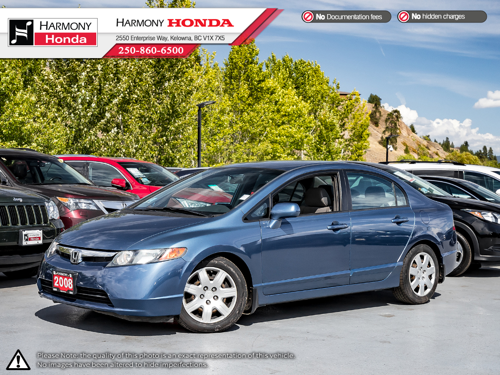 Pre-Owned 2008 Honda Civic Sedan LX - LOW KM - NEW TIRES - NEW REAR BRAKES - WELL SERVICED