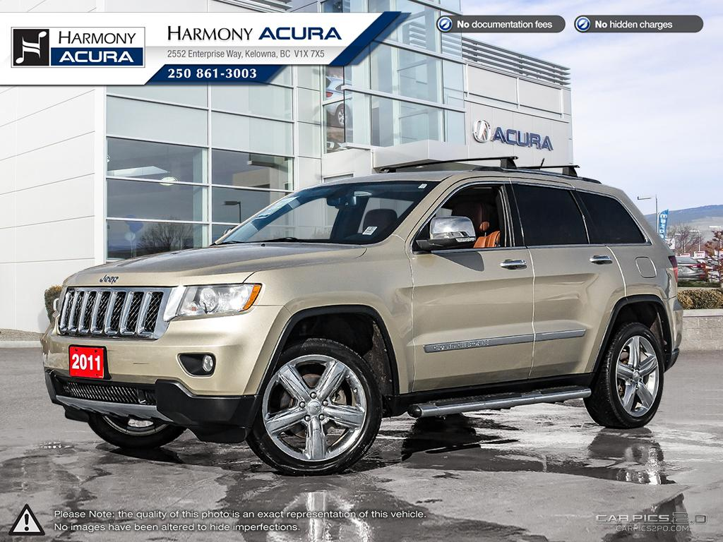 Pre-Owned 2011 Jeep Grand Cherokee OVERLAND - BC VEHICLE - LOW KM - SUNROOF - BACKUP CAMERA - NAVIGATION SYSTEM - NEW REAR BRAKES