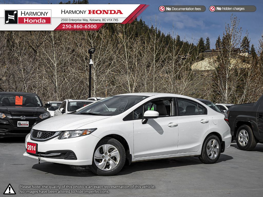 Pre-Owned 2014 Honda Civic Sedan LX - BC VEHICLE - NO ACCIDENTS - 1 OWNER - BLUETOOTH - NEW TIRES - NEW FRONT BRAKES - WELL SERVICED