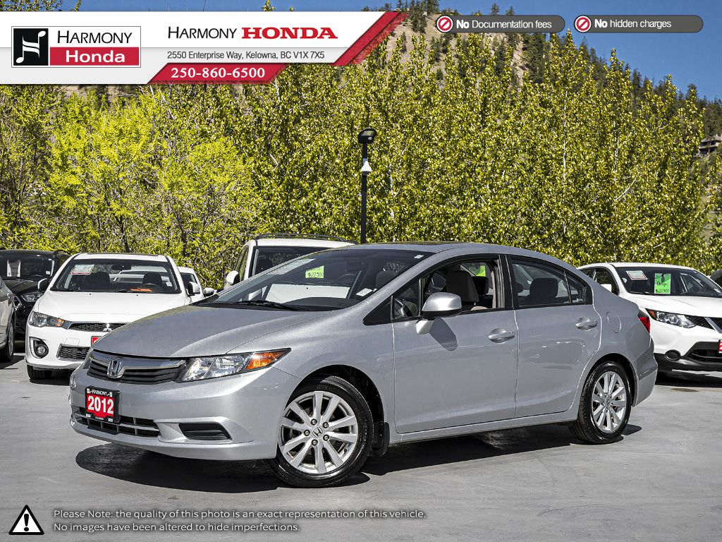 Pre-Owned 2012 Honda Civic Sedan EX - BC VEHICLE - ONE OWNER - LOW KM - SUNROOF - WELL SERVICED - FUEL EFFICIENT