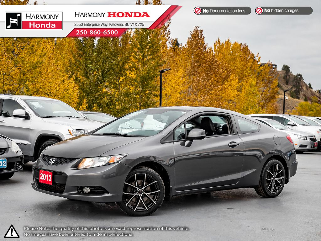 Pre-Owned 2013 Honda Civic Coupe EX-L - NON SMOKER - SUNROOF - BACKUP CAM - NAVI SYSTEM - 3M ROCK GUARD PROTECTION - NEW TIRES