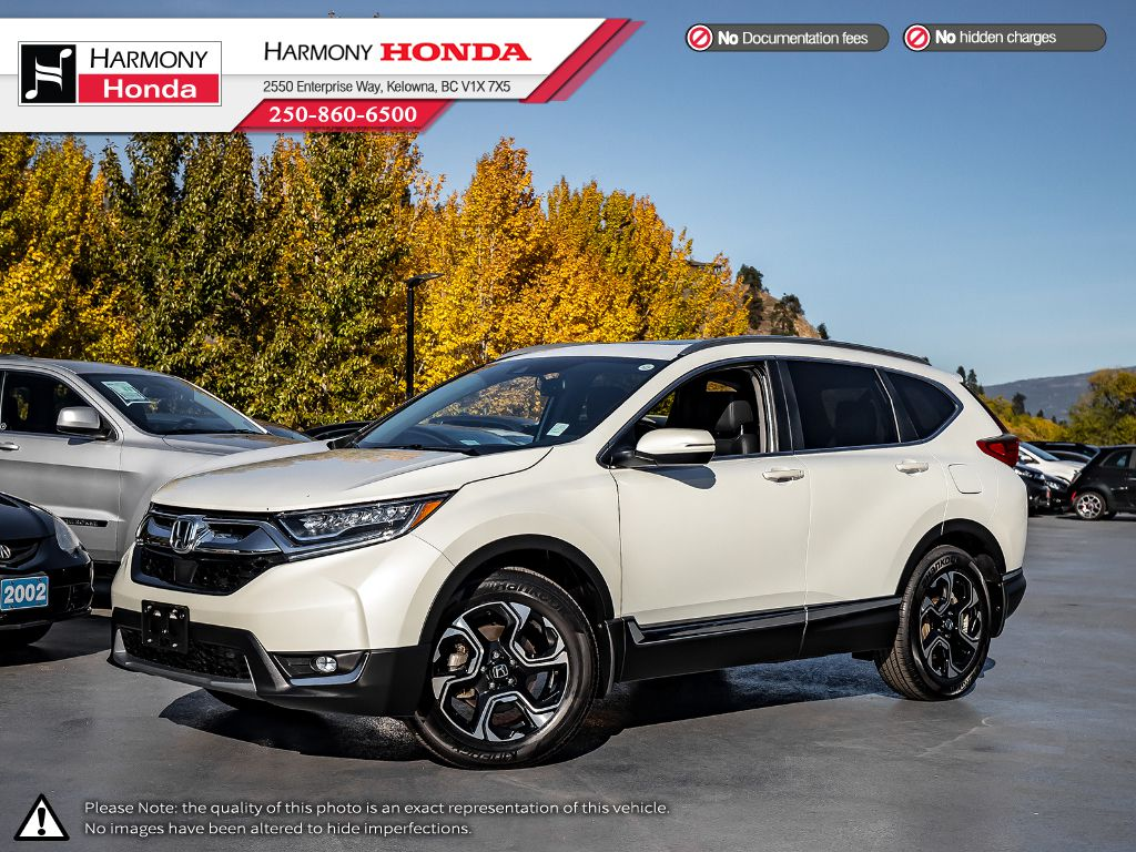 Pre-Owned 2018 Honda CR-V TOURING - NO ACCIDENTS - LOW KM - BACKUP CAM - NAV SYSTEM - PANORAMIC SUNROOF - FACTORY WARRANTY