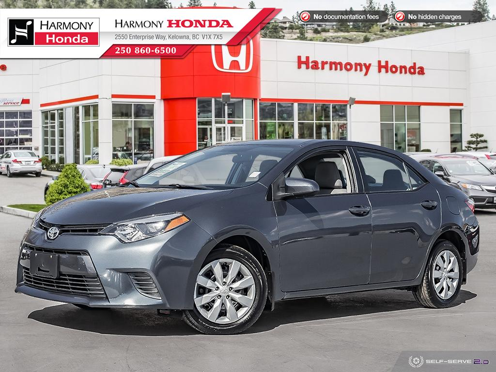 Pre-Owned 2015 Toyota Corolla LE - NO ACCIDENTS OR DAMAGE - BC VEHICLE - FUEL EFFICIENT - RELIABLE - LOW KMS - HEATED SEATS