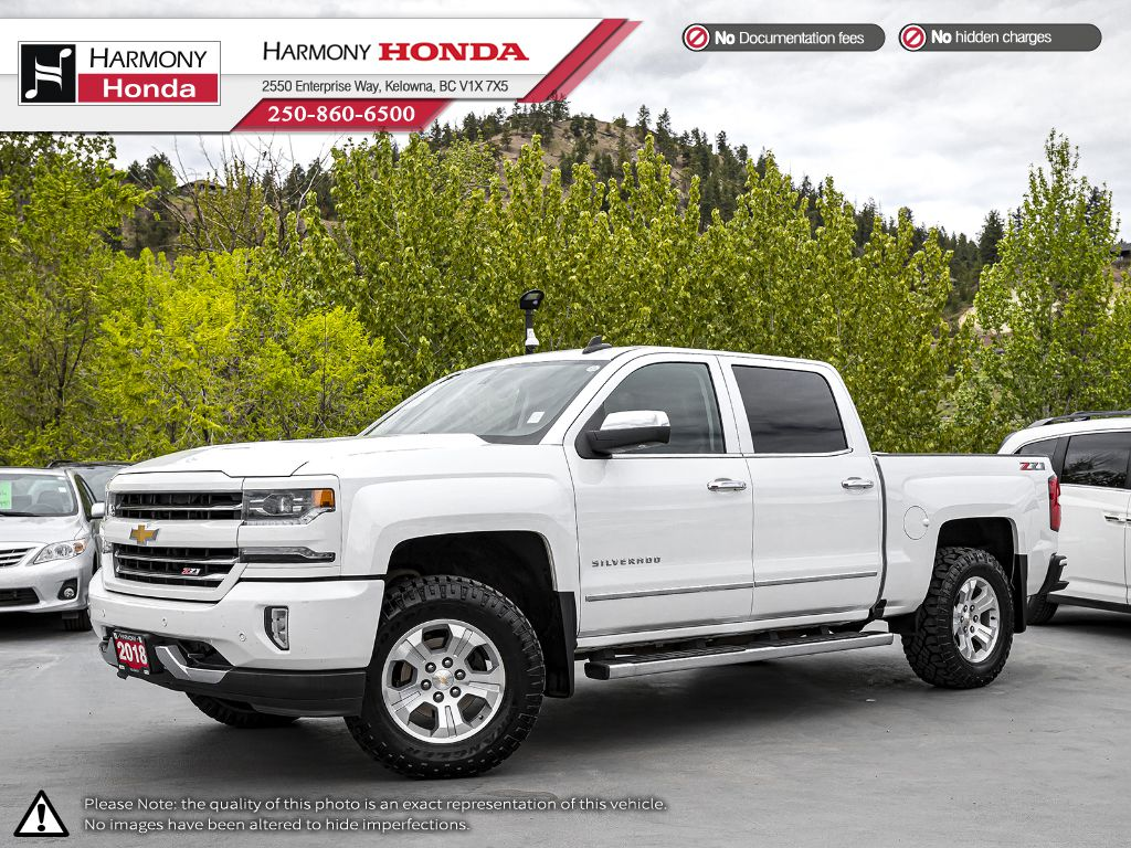 Pre-Owned 2018 Chevrolet Silverado 1500 LTZ w/1LZ - BC VEHICLE - NO ACCIDENTS - ONE OWNER - SUNROOF - BACKUP CAM - NAVI SYSTEM - BLUETOOTH