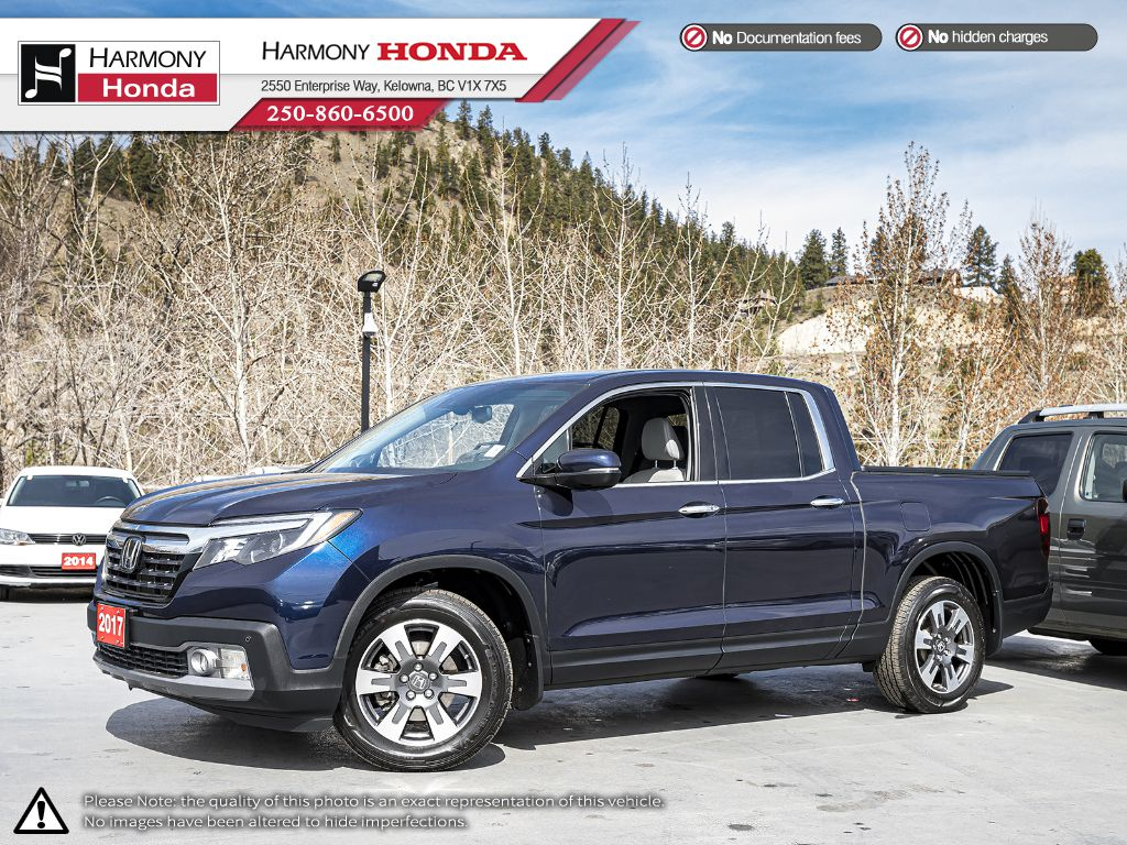 Certified Pre-Owned 2017 Honda Ridgeline TOURING - LOCAL - 1 OWNER - NON SMOKER - SUNROOF - BACKUP CAM - NAVI SYSTEM - NEW TIRES