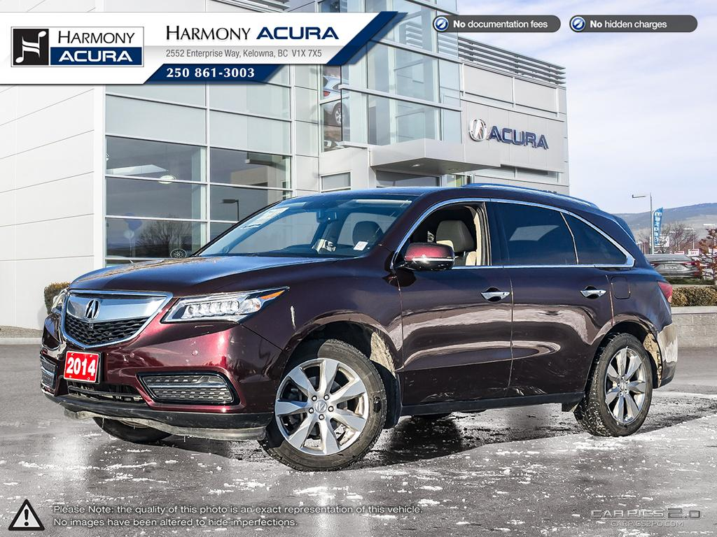 Pre-Owned 2014 Acura MDX ELITE PKG - ONE OWNER - LOW KM - LOCAL VEHICLE - NAVIGATION SYSTEM - BACKUP CAMERA - SUNROOF