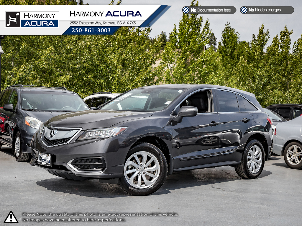 Pre-Owned 2016 Acura RDX PREMIUM - ACURA CERTIFIED - NO ACCIDENTS / DAMAGE - SUNROOF - BACKUP CAMERA - FACTORY WARRANTY