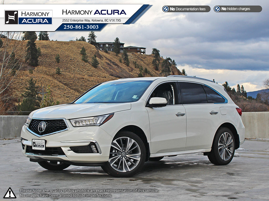 new 2018 acura mdx elite 4 door sport utility in kelowna a18077 c harmony acura. Black Bedroom Furniture Sets. Home Design Ideas