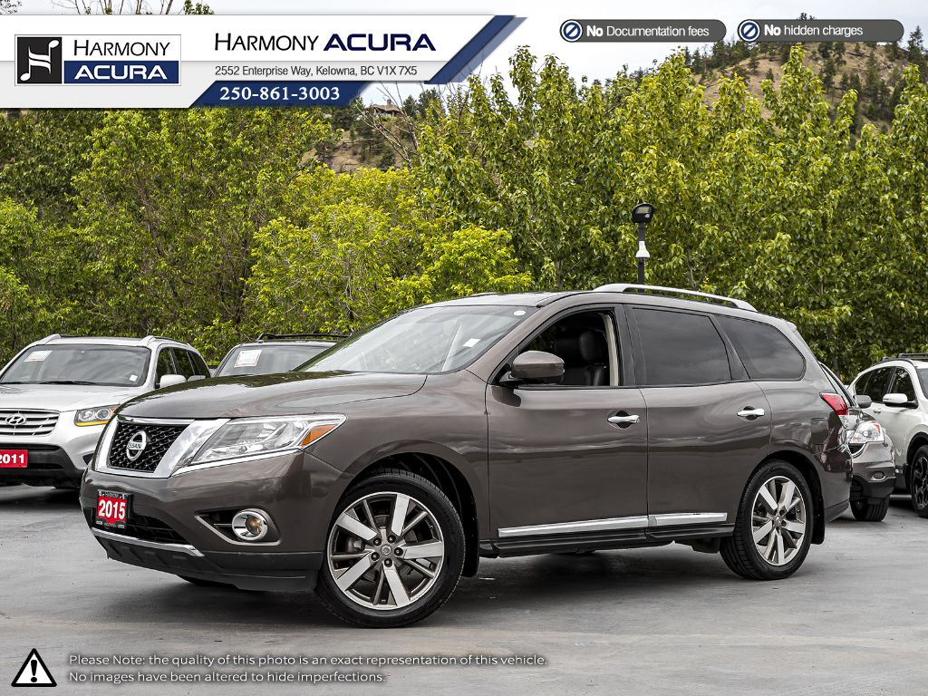 Pre-Owned 2015 Nissan Pathfinder Platinum - BACKUP CAM - NAVI SYSTEM - BLUETOOTH - PANORAMIC SUNROOF - LEATHER INTERIOR