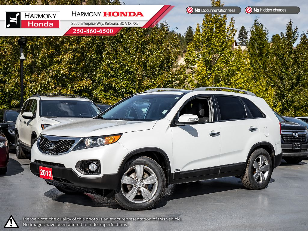 Pre-Owned 2012 Kia Sorento EX - BC VEHICLE - LOW KMS - ONE OWNER - NON-SMOKER - PET FREE - LEATHER - HEATED SEATS - SUNROOF