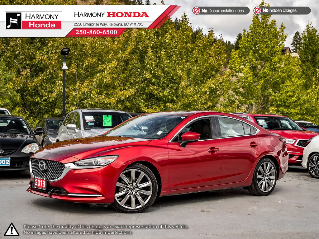 Pre-Owned 2018 Mazda6 SIGNATURE - BC VEHICLE - NO ACCIDENTS - ONE OWNER - LOW KM - SUNROOF - BACKUP CAM - NAVI SYSTEM