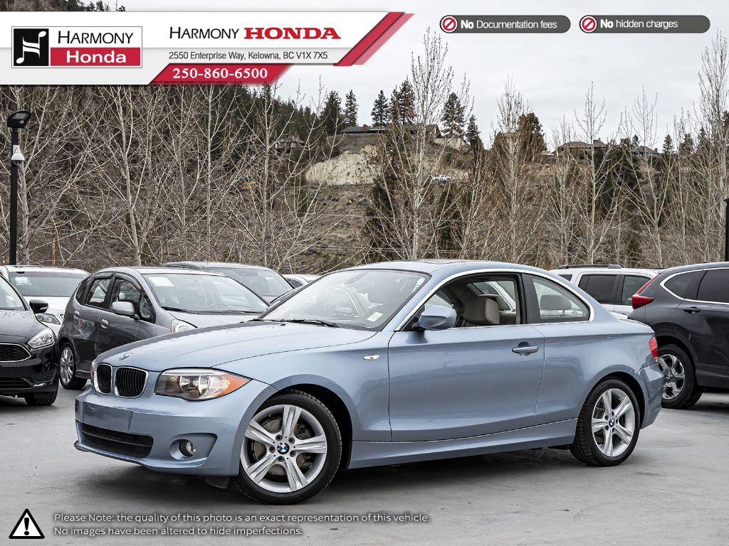 Pre-Owned 2013 BMW 1 Series 128i - BC VEHICLE - NON SMOKER - SUNROOF - LEATHER INTERIOR - FOG LIGHTS