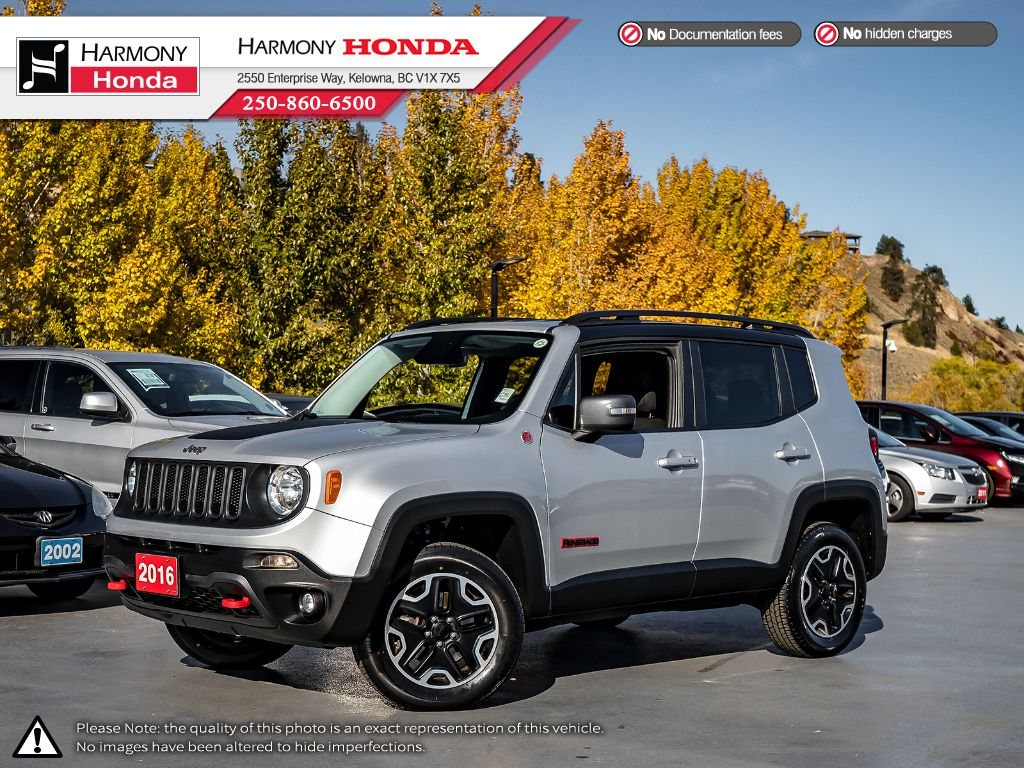 Pre-Owned 2016 Jeep Renegade TRAILHAWK - NO ACCIDENTS / DAMAGE - LOW KM - BLUETOOTH - NEW TIRES - FOG LIGHTS