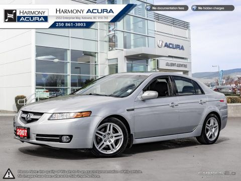 Pre-Owned 2007 Acura TL NAVI - BC VEHICLE - NO ACCIDENTS / DAMAGE - 1 OWNER - SUNROOF - BACKUP CAM - NAVI SYSTEM - NEW TIRES