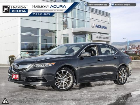 Pre-Owned 2015 Acura TLX SH-AWD V6 - NO ACCIDENTS / DAMAGE - LOW KM - LOCAL - BACKUP CAM - SUNROOF - FACTORY WARRANTY