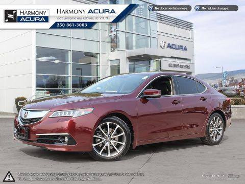 Pre-Owned 2016 Acura TLX ELITE - NO ACCIDENTS - 1 OWNER - NON SMOKER - NAVI SYSTEM - BACKUP CAM - SUNROOF - FACTORY WARRANTY