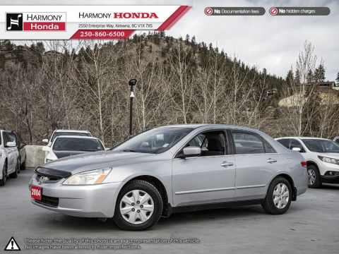 Pre-Owned 2004 Honda Accord Sedan LX - BC VEHICLE - NEW FRONT BRAKES - 2ND SET OF TIRES