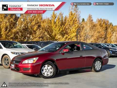 Pre-Owned 2003 Honda Accord Coupe LX - BC VEHICLE - NO ACCIDENTS / DAMAGE - ONE OWNER - LOW KM