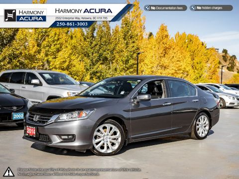 Pre-Owned 2014 Honda Accord Sedan TOURING - NO ACCIDENTS - ONE OWNER - NON SMOKER - SUNROOF - BACKUP CAM - NAVI SYSTEM - NEW TIRES