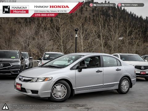 Pre-Owned 2009 Honda Civic Sedan DX-G - BC VEHICLE - LOW KM - NEW TIRES - RELIABLE - FUEL EFFICIENT
