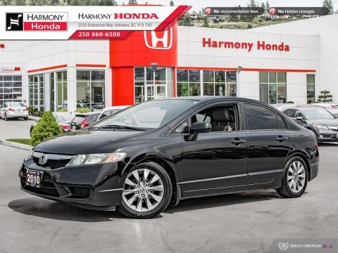 Pre-Owned 2010 Honda Civic Sedan EX-L - BC VEHICLE - SUNROOF - 2ND SET OF TIRES - LEATHER INTERIOR