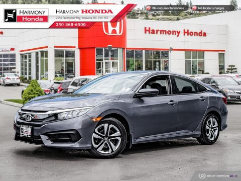 Pre-Owned 2016 Honda Civic Sedan LX - LOCAL VEHICLE - NO ACCIDENTS / DAMAGE - ONE OWNER - LOW KM - BACKUP CAMERA - FACTORY WARRANTY