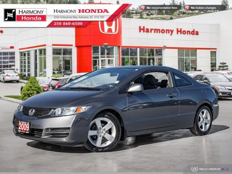 Pre-Owned 2009 Honda Civic Coupe LX SR - BC VEHICLE - NON SMOKER - LOW KM - SUNROOF - SUPER RELIABLE