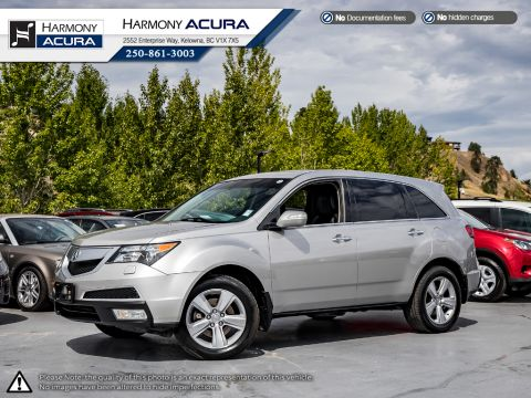 Pre-Owned 2010 Acura MDX PREMIUM - TIMING BELT REPLACED - FULL SERVICE HISTORY - NO ACCIDENTS OR DAMAGE - LOCAL KELOWNA SUV
