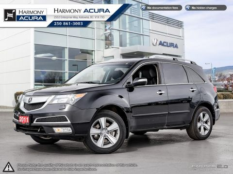 Pre-Owned 2011 Acura MDX TECH PKG - LOCAL VEHICLE - NO ACCIDENTS - ONE OWNER - SUNROOF - BACKUP CAM - NAVI SYSTEM