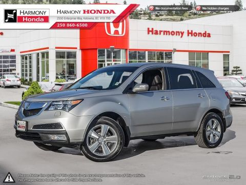 Pre-Owned 2012 Acura MDX TECH PKG - NO ACCIDENTS / DAMAGE - NON SMOKER - LOW KM - NAVIGATION SYSTEM - BACKUP CAMERA - SUNROOF