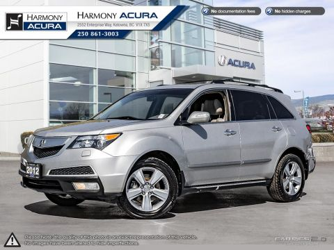 Pre-Owned 2012 Acura MDX TECH PKG - BC VEHICLE - SUNROOF - BACKUP CAMERA - NAVIGATION SYSTEM - FOG LIGHTS