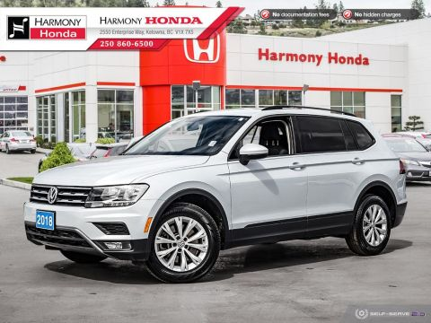 Pre-Owned 2018 Volkswagen Tiguan S 4MOTION - BC VEHICLE - NO ACCIDENTS / DAMAGE - LOW KM - BACKUP CAMERA - FOG LIGHTS