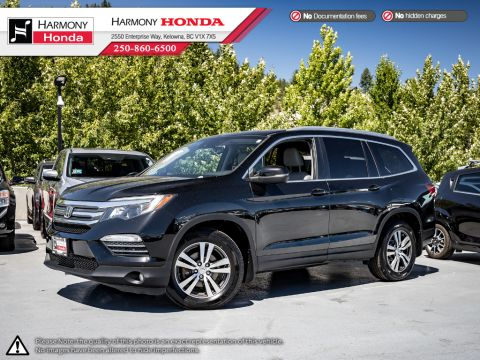 Pre-Owned 2016 Honda Pilot EX-L NAVI - ONE OWNER - LOCAL BC VEHICLE - TOWING PKG - LEATHER INTERIOR - NAVIGATION - 3M ROCKGUARD