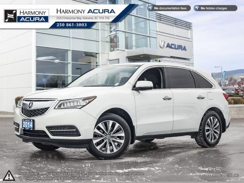 Pre-Owned 2014 Acura MDX NAV PKG - BC VEHICLE - NO ACCIDENTS / DAMAGE - NAVIGATION SYSTEM - BACKUP CAMERA - SUNROOF