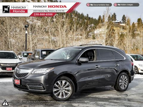 Pre-Owned 2015 Acura MDX NAV PKG - BC VEHICLE - ONE OWNER - NON SMOKER - LOW KM - SUNROOF - BACKUP CAMERA - NAVI SYSTEM