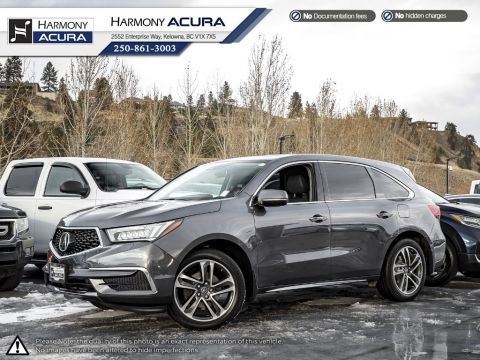 Pre-Owned 2017 Acura MDX NAV PKG - ACURA CERTIFIED - NO ACCIDENTS - ONE OWNER - LOW KM - SUNROOF - BACKUP CAM - NAVI SYSTEM