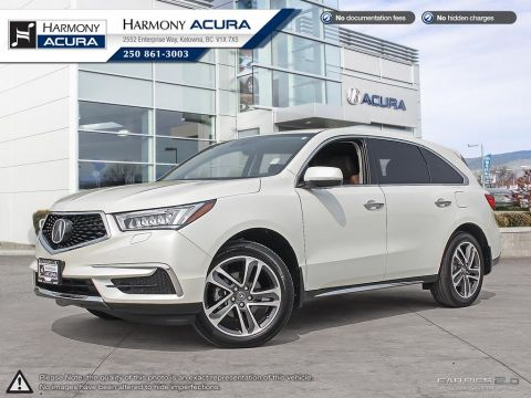 Pre-Owned 2017 Acura MDX NAV PKG - NON SMOKER - LOW KM - NAVIGATION SYSTEM - BACKUP CAMERA - SUNROOF - FACTORY WARRANTY