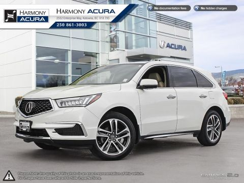 Pre-Owned 2017 Acura MDX TECH PKG - ONE OWNER - LOW KM - NAVIGATION SYSTEM - BACKUP CAMERA - SUNROOF - FACTORY WARRANTY