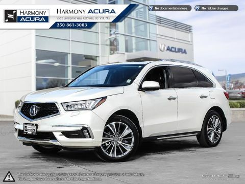 Pre-Owned 2017 Acura MDX ELITE PACKAGE - 1 OWNER - FULLY EQUIPPED - NAVI SYSTEM - BACKUP CAM - SUNROOF - NO ACCIDENTS/DAMAGE