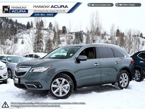Pre-Owned 2016 Acura MDX ELITE PKG - ACURA CERTIFIED - LOCAL - NO ACCIDENTS - 1 OWNER - SUNROOF - BACKUP CAM - NAVI SYSTEM