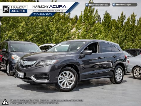 Certified Pre-Owned 2016 Acura RDX PREMIUM - ACURA CERTIFIED - NO ACCIDENTS / DAMAGE - SUNROOF - BACKUP CAMERA - FACTORY WARRANTY