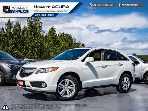 Pre-Owned 2015 Acura RDX PREMIUM - NEW TIRES - NO ACCIDENTS OR DAMAGE - LOCAL BC VEHICLE - ONE OWNER - NEW TIRES