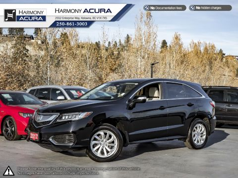 Certified Pre-Owned 2017 Acura RDX TECH PKG - ACURA CERTIFIED - LOW KMS - NON-SMOKER DRIVEN - LOADED - RARE BLACK AND IVORY COMBINATION