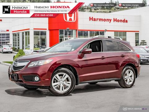 Pre-Owned 2014 Acura RDX TECH PKG - BC VEHICLE - NO ACCIDENTS - ONE OWNER - LOW KM - SUNROOF - BACKUP CAM - NAVI SYSTEM