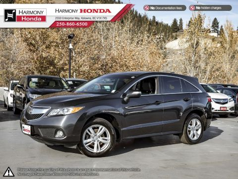 Certified Pre-Owned 2015 Acura RDX TECH PKG - ACURA CERTIFIED - BC VEHICLE - NON SMOKER - SUNROOF - BACKUP CAM - NAV SYSTEM - BLUETOOTH